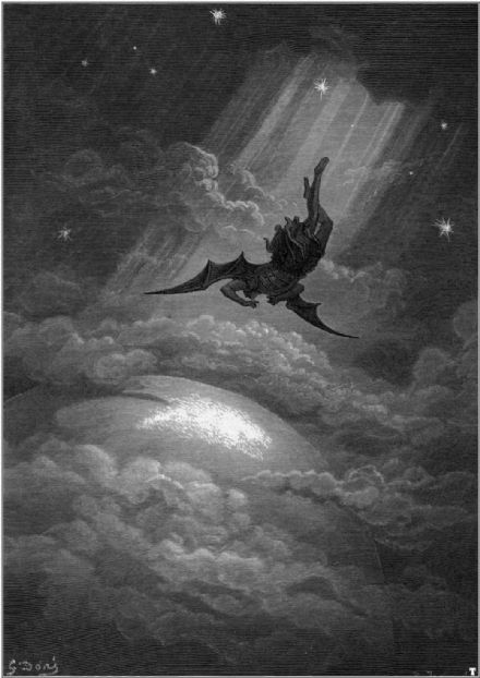 Dore, Gustave: Satan Illustration from Paradise Lost by John Milton. Fine Art Print/Poster. Sizes: A4/A3/A2/A1 (001836)